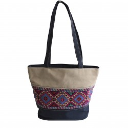 Hand-Woven Majdal Bag with Embroidery