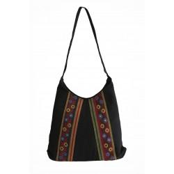 Hand-Woven Embroidered Shoulder Bag