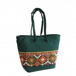 Hand-Woven Handbag with Embroidery