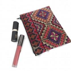 Cross Stitch makeup bag - purple