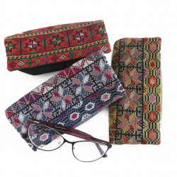 Hand-Woven Eyeglasses Case with Embroidery