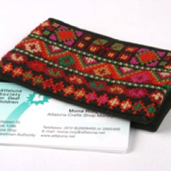 Cross-Stitch Cardholder - Red
