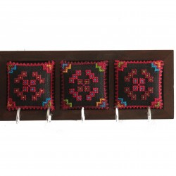 Wooden Keyholder with Embroidery