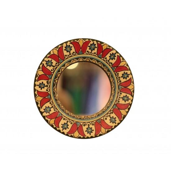 Hand-Painted Ceramic Mirror