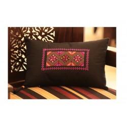 Cross Stitch Small Pillow- Pink