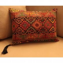 Cross-Stitch Karmidi/ Black  Pillow