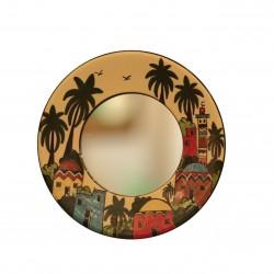 Hand-Painted  Ceramic Kariya Mirror