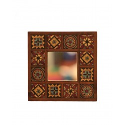 Mirror with Arabesque Tiles