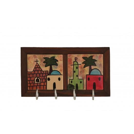 wooden /ceramic kariya key holder