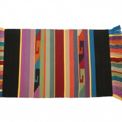 Hand-Woven Striped Rug