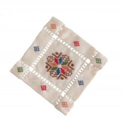 Cross-Stitch Beige Coaster