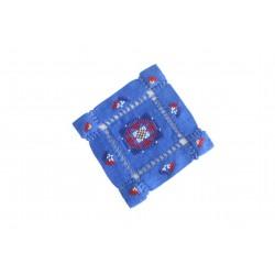 Cross - Stitch Blue Coaster