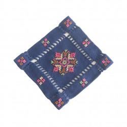 Cross-Stitch Coaster- Navy Blue