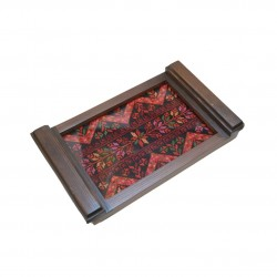 Small Embroidered Tray Modern Old
