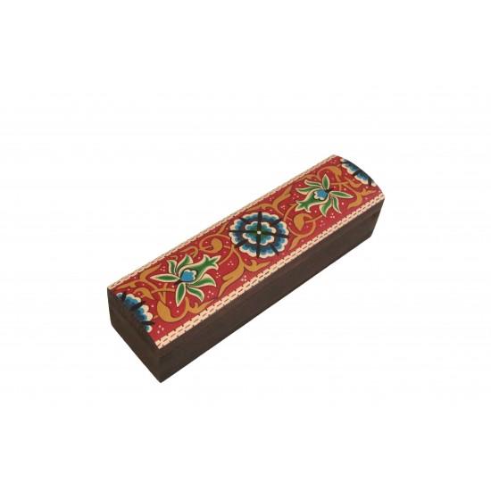 Hand-Painted Rectangular Box Arabesque