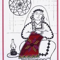 Cross-Stitch Falaha Card