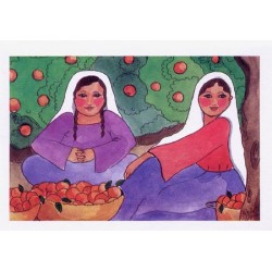 Women with Oranges Card