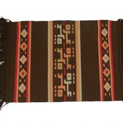 Hand-woven Gaza rug Brown