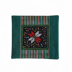 Cross-Stitch  Green Coaster