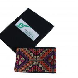 Cross-Stitch Cardholder - Purple
