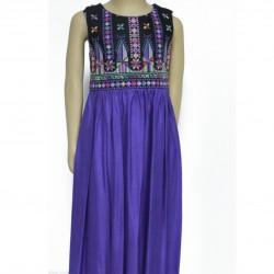 Cross-Stitch Purple Dress Sarou