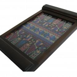 Medium Embroidered Tray  purple saru