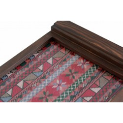 Medium Embroidered Tray Pink Old
