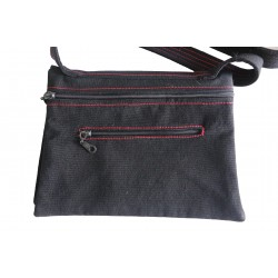 Hand-Woven Bag with Flap