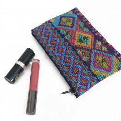 Cross-stitch Makeup Bag -light Blue