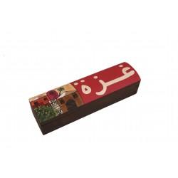 Hand-Painted Rectangular Box -Gaza