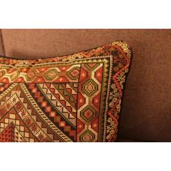 Cross-Stitch  Medium Brown  Pillow