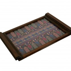 Large Embroidered Tray -Purple