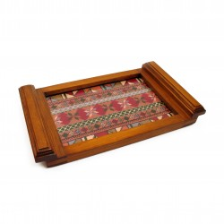 Small Embroidered Tray -Pink Old Palestine