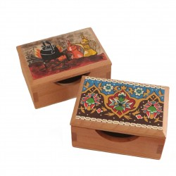 Hand-Painted  Business Card Box