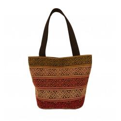 Cross-Stitch multi color Tote Bag