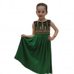 Cross-Stitch Green Dress Sarou