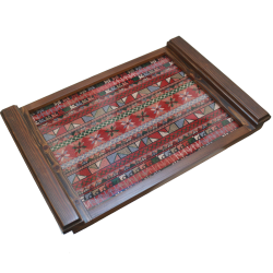 large Embroidered Tray -Pink Old Palestine