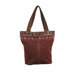 Hand-Woven Bag with Embroidery