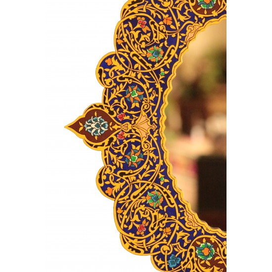 Hand-Painted Decorative Mirror
